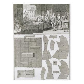 El taller y los modelos de un sastre, del 'Encycl Postales