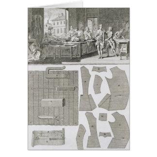 El taller y los modelos de un sastre, del 'Encycl Tarjeta De Felicitación