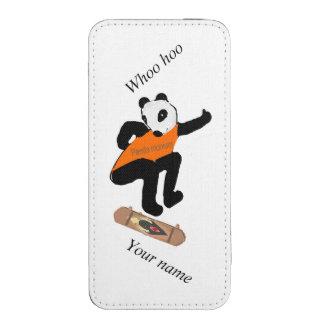 El talón de la panda que anda en monopatín que funda para iPhone 5
