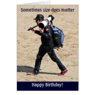 ¡El tamaño importa a veces - feliz cumpleaños! Tarjeta De Felicitación