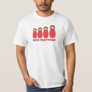 El tamaño importa camisa de Petrushka para los hom