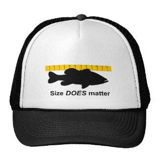 "El ""tamaño importa"" - pesca de la lubina divertida gorro"