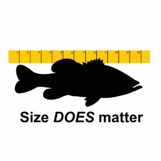 """El """"tamaño importa"""" - pesca de la lubina divertida imán fotoescultura"""