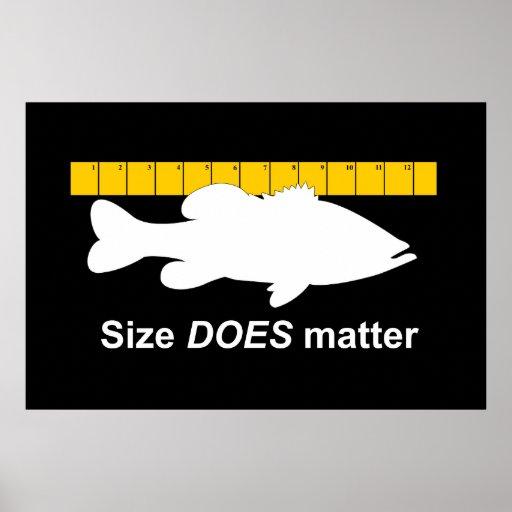 """El """"tamaño importa"""" - pesca de la lubina divertida posters"""