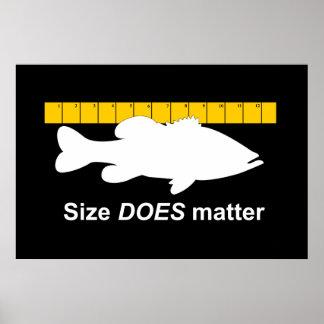 """El """"tamaño importa"""" - pesca de la lubina divertida póster"""