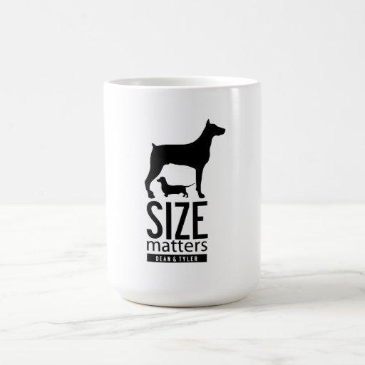 """El """"tamaño importa """" taza clásica"""