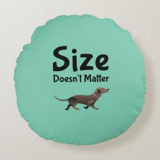 El tamaño no importa amortiguador de la cama del cojín redondo