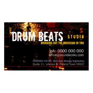 El tambor bate la tarjeta de la industria musical plantilla de tarjeta de visita