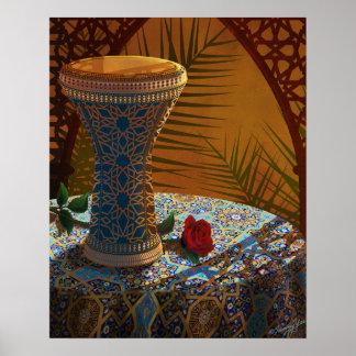 El tambor, danza, vive poster (de Doumbek)