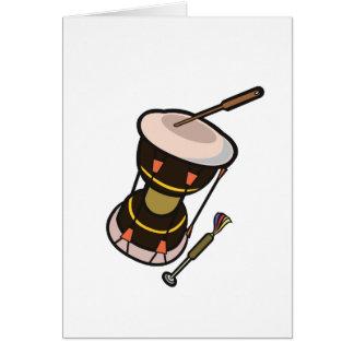 el tambor dos dirigió el tambor turned.png oscuro tarjeta de felicitación
