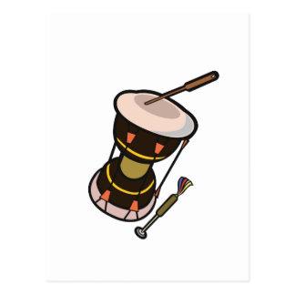 el tambor dos dirigió el tambor turned.png oscuro tarjeta postal