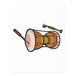 el tambor dos dirigió la mano drum.png postales