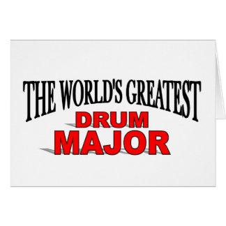 El tambor mayor más grande del mundo felicitaciones