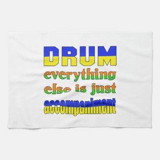 El tambor todo es apenas acompañamiento toallas de cocina