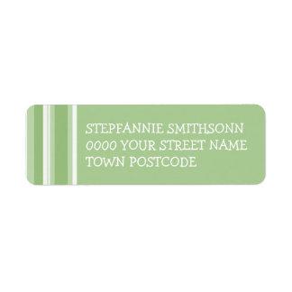El tango de la caída raya la etiqueta verde del re etiqueta de remitente