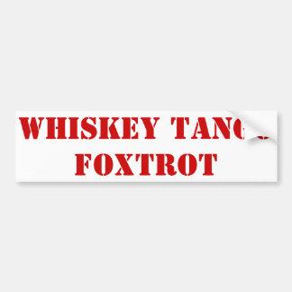 El tango del whisky Foxtrot Pegatina De Parachoque