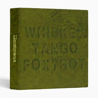 El tango del whisky Foxtrot carpeta