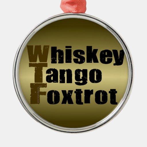 El tango del whisky Foxtrot Adorno Redondo Plateado