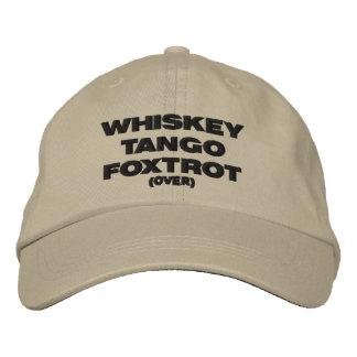 El tango del whisky Foxtrot (encima) Gorras De Beisbol Bordadas