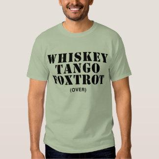 El tango del whisky Foxtrot (encima) Remeras