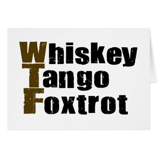 El tango del whisky Foxtrot Felicitación