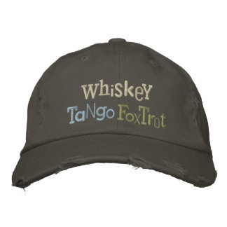 El tango del whisky Foxtrot gorra ecléctico del bo Gorra De Beisbol Bordada