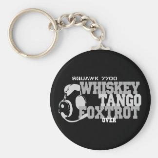 El tango del whisky Foxtrot - humor de la aviación Llaveros