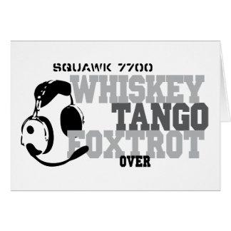 El tango del whisky Foxtrot - humor de la aviación Felicitación
