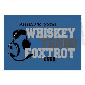 El tango del whisky Foxtrot - humor de la aviación Tarjeton