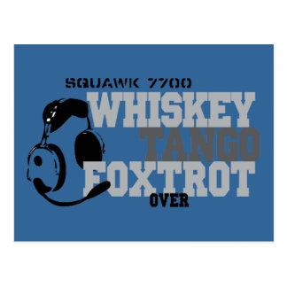El tango del whisky Foxtrot - humor de la aviación Postal