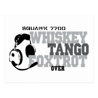 El tango del whisky Foxtrot - humor de la aviación Tarjeta Postal