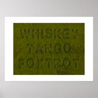El tango del whisky Foxtrot impresión