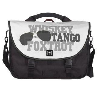 El tango del whisky Foxtrot - los vidrios de sol d Bolsas Para Ordenador