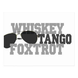 El tango del whisky Foxtrot - los vidrios de sol Postal