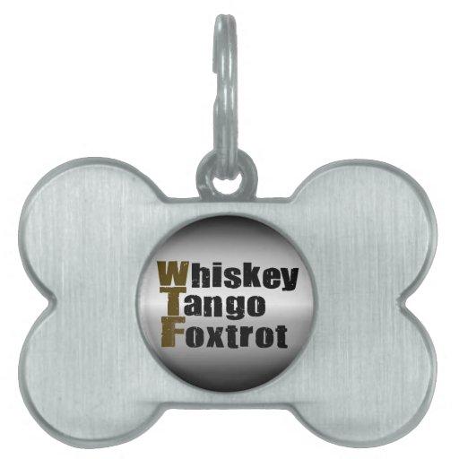 El tango del whisky Foxtrot Placa Mascota