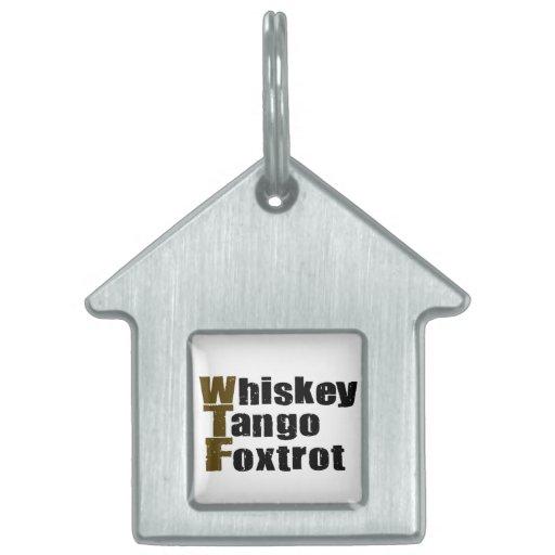 El tango del whisky Foxtrot Placas Mascota
