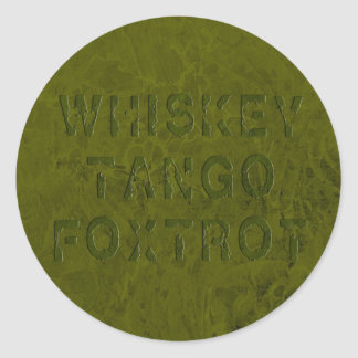 El tango del whisky Foxtrot pegatina
