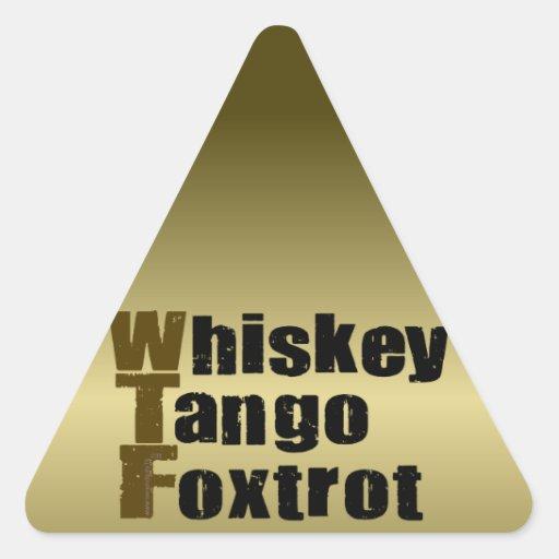 El tango del whisky Foxtrot Pegatina Triangular