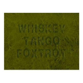 El tango del whisky Foxtrot postal