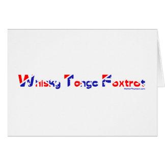 El tango del whisky Foxtrot Tarjeta