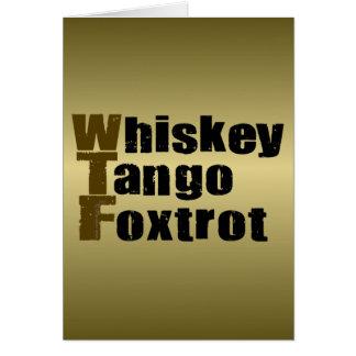 El tango del whisky Foxtrot Tarjetón