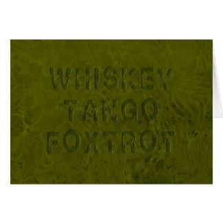 El tango del whisky Foxtrot tarjeta de felicitació