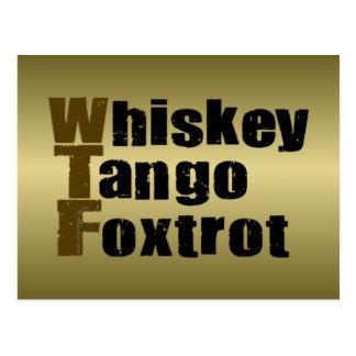 El tango del whisky Foxtrot Tarjeta Postal