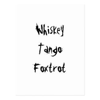 El tango del whisky Foxtrot Tarjetas Postales