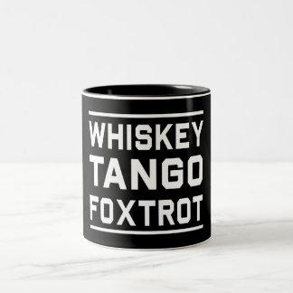 El tango del whisky Foxtrot Taza De Café De Dos Colores