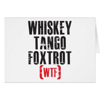 El tango del whisky Foxtrot - WTF - negro Tarjetas