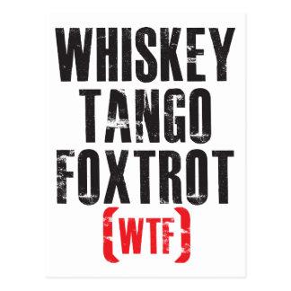 El tango del whisky Foxtrot - WTF - negro Postal