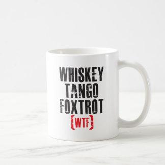 El tango del whisky Foxtrot - WTF - negro Taza