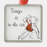El tango es el aire adorno navideño cuadrado de metal