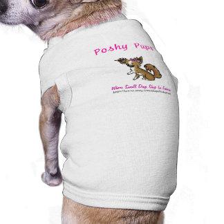 El tanque acanalado de los perritos de Poshy Playera Sin Mangas Para Perro